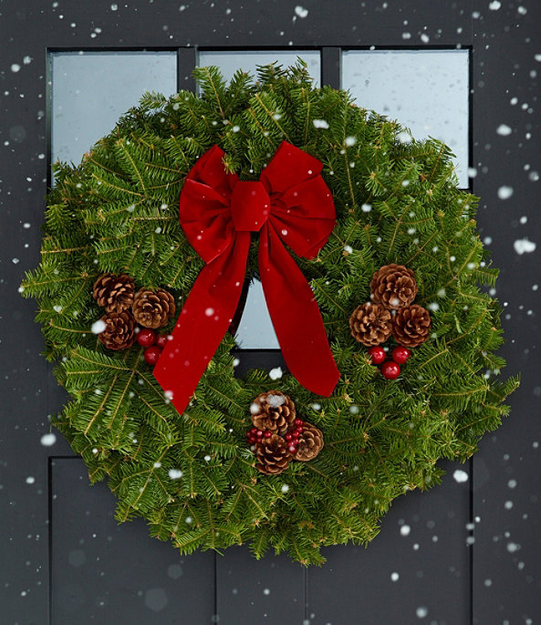 """Traditional Balsam Wreath 24"""", One Color, large image number 1"""