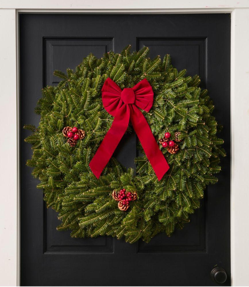 "Traditional Balsam Wreath, 30"""