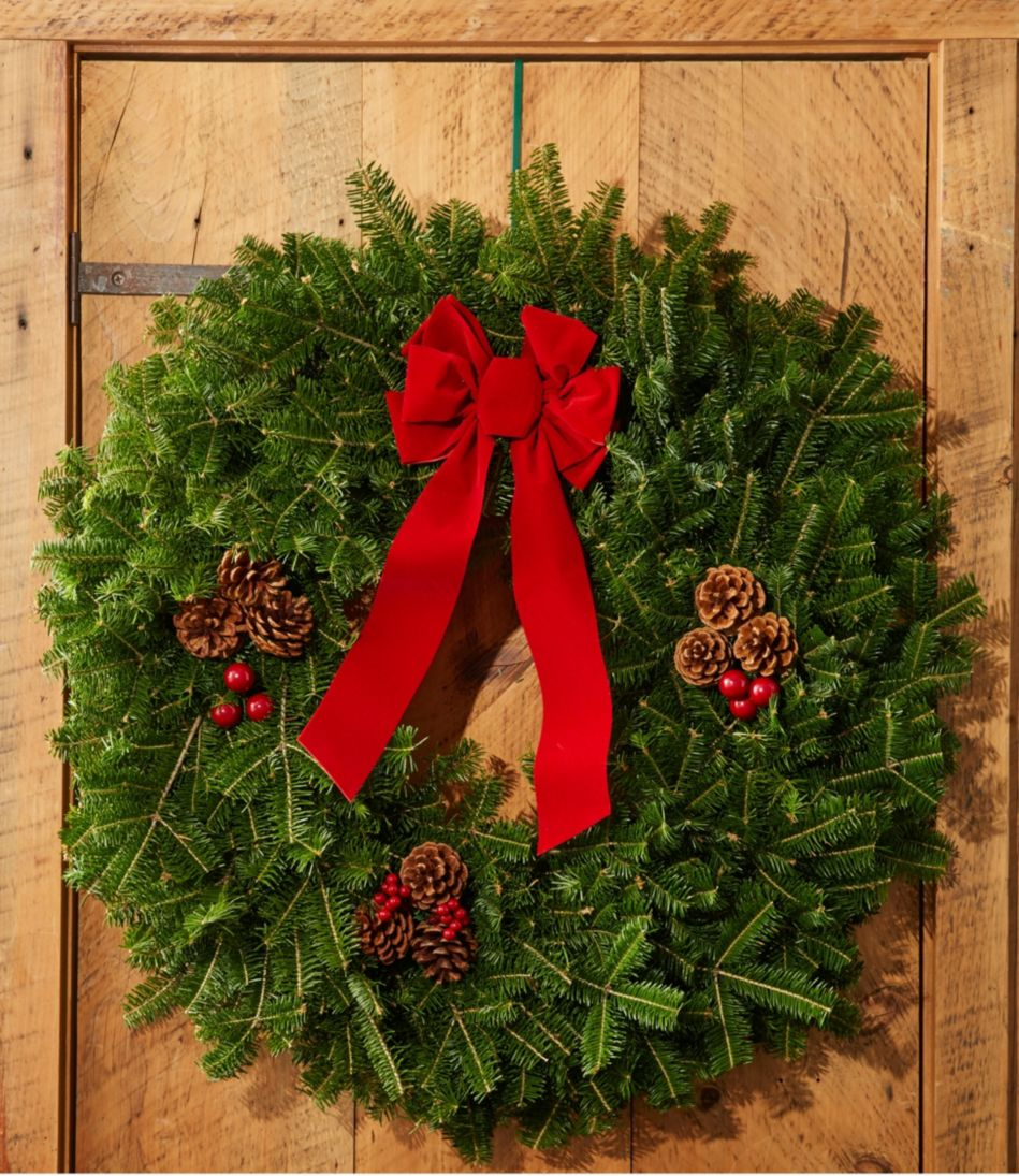 "Traditional Christmas Balsam Wreath, 30"""