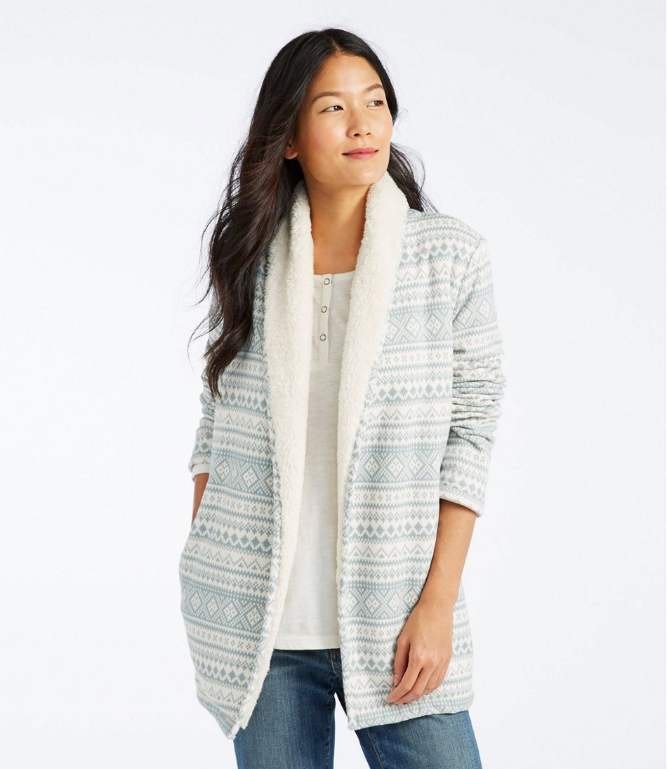 ef667c46b Women's Sherpa-Lined Cozy Cardigan, Print