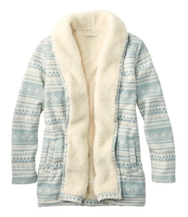 Sherpa-Lined Cozy Cardigan, Print