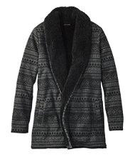 Sherpa-Lined Cozy Cardigan, Print