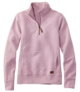 Women's Quilted Quarter-Zip Pullover