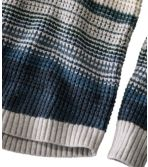 Women's Waffle Stitch Sweater, Cowlneck Pullover Multi-Stripe