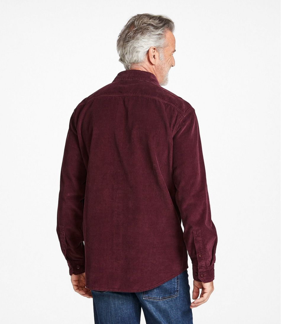 Men's Lakewashed® Corduroy Shirt, Traditional Fit Long-Sleeve