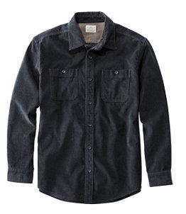 Men's Lakewashed Corduroy Shirt, Traditional Fit Long-Sleeve