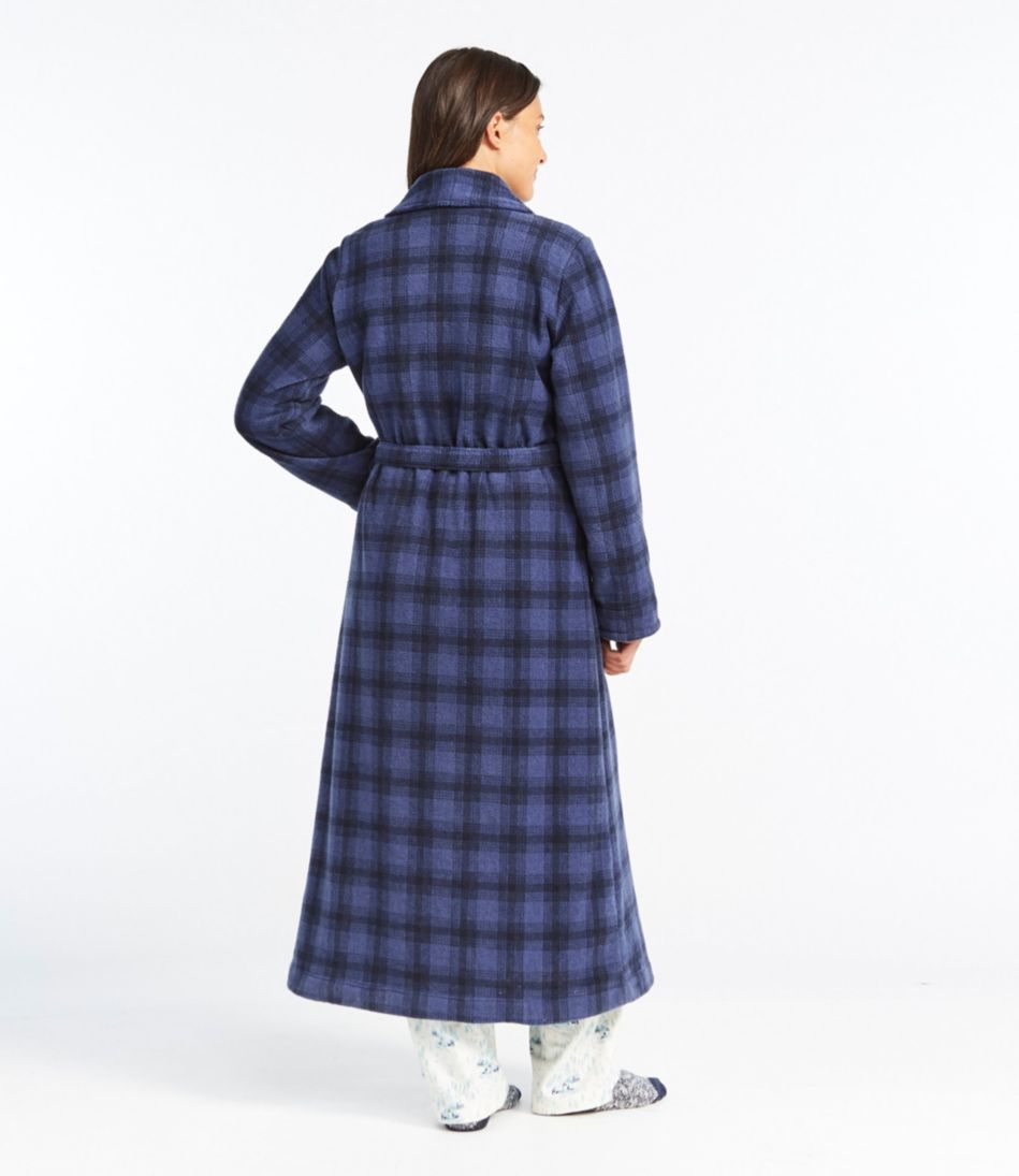Winter Fleece Robe, Wrap-Front Print
