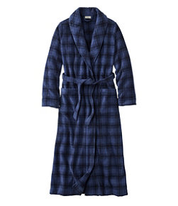Women's Winter Fleece Robe, Wrap-Front Print
