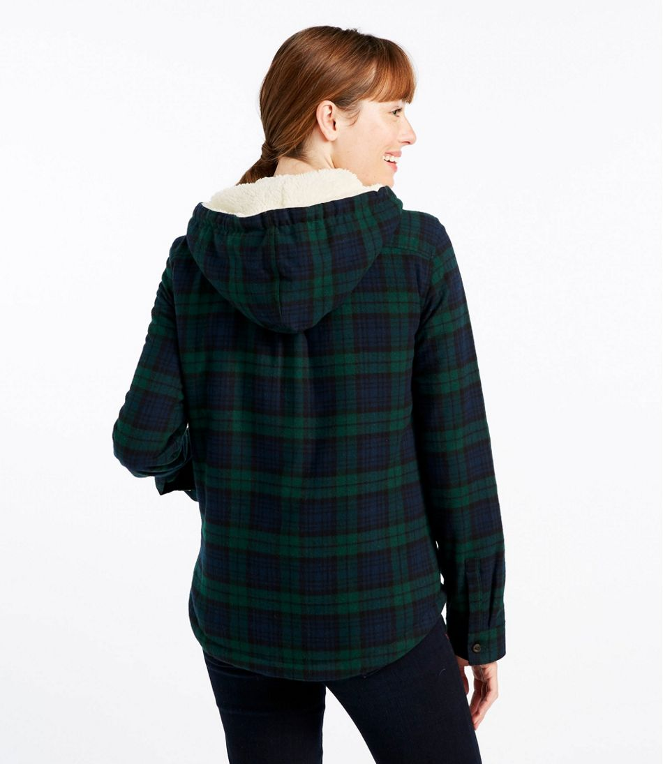 Scotch Plaid Flannel Shirt, Sherpa-Lined Zip Hoodie