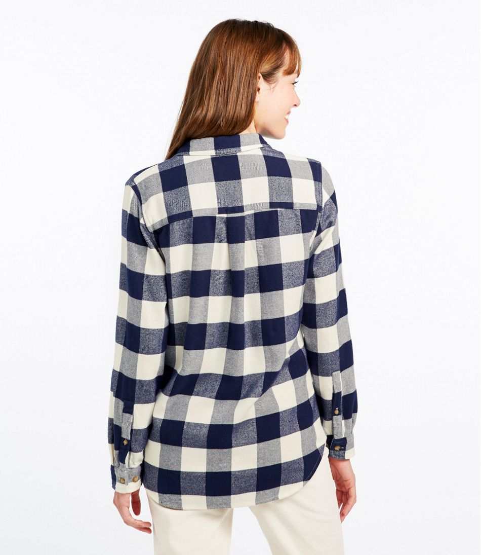 Women's L.L.Bean Organic Flannel Shirt, Plaid