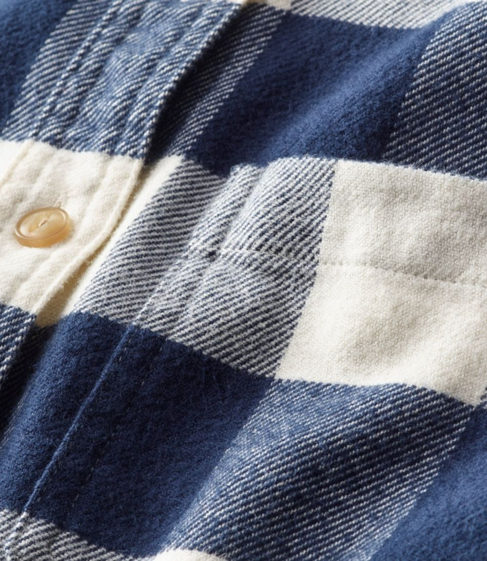L.L.Bean Organic Flannel Tunic, Plaid