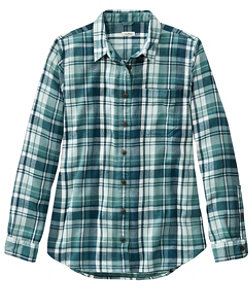 Women's L.L.Bean Organic Flannel Tunic, Plaid