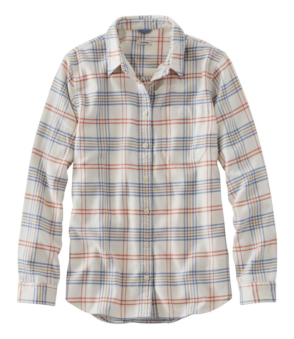 L.L.Bean Organic Flannel Tunic, Plaid