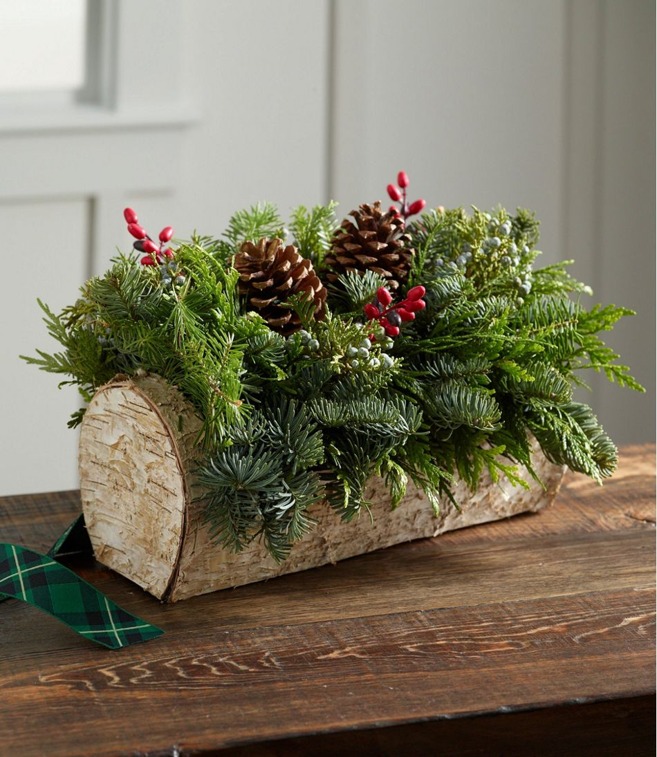 Christmas Yule Log Centerpiece