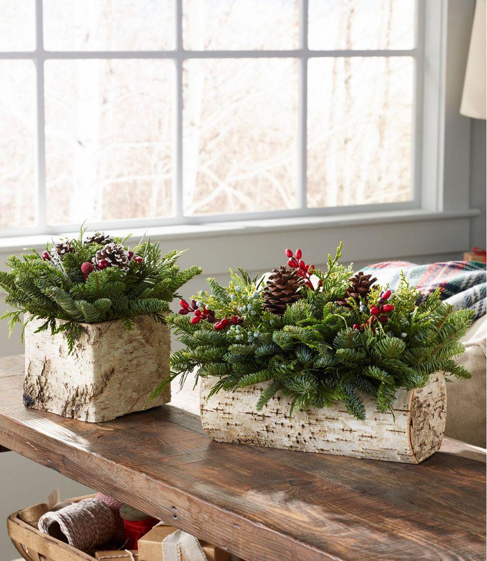 Christmas Yule Log Centerpiece