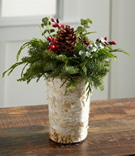 Rustic Birch Vase Centerpiece