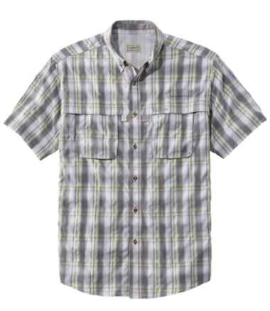 Men's Tropicwear Shirt, Plaid Short-Sleeve