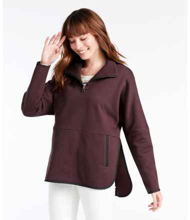 Women's Signature Quarter-Zip Sweatshirt Poncho