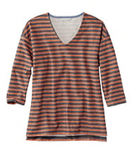 Signature French Sailor Knit Tee, V-Neck