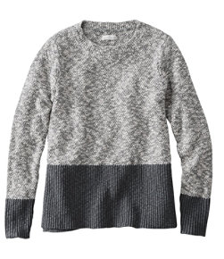 Signature Cotton Linen Ragg Crewneck Sweater