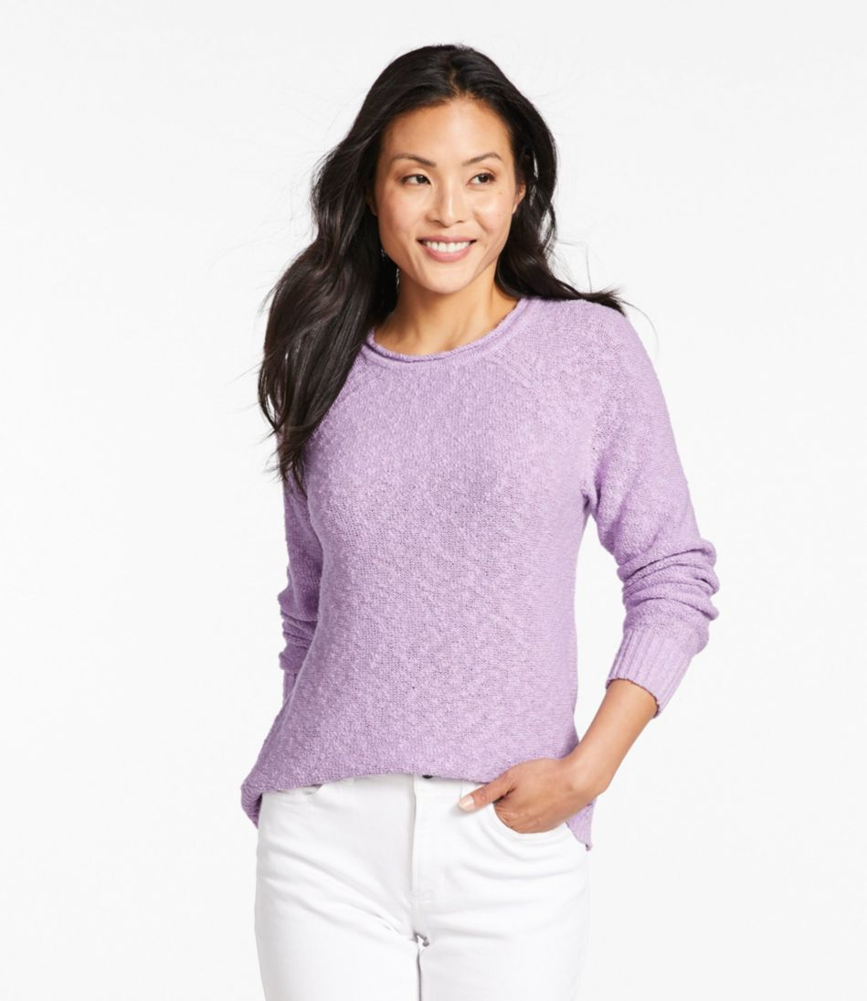 Midweight Cotton Slub Rollneck Pullover Misses Regular by L.L.Bean