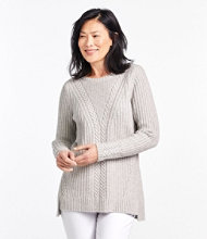 Cozy Mixed Stitch Sweater Pullover Long Sleeve Misses Regular