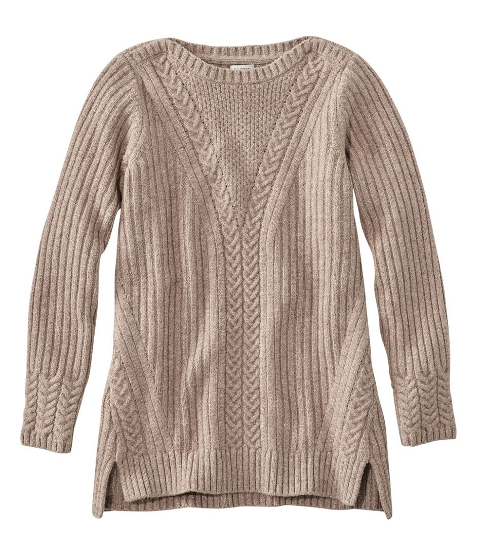 Cozy Mixed Stitch Sweater Pullover Long Sleeve