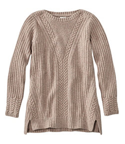 Women's Cozy Mixed Stitch Sweater, Pullover Long Sleeve