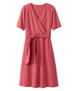 Women's Cotton/Tencel Dress, Elbow-Sleeve