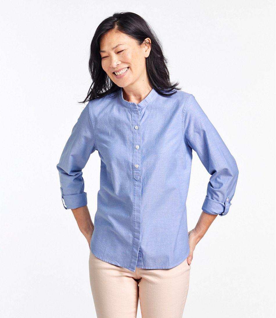 Lakewashed® Organic Cotton Oxford Shirt, Roll Tab