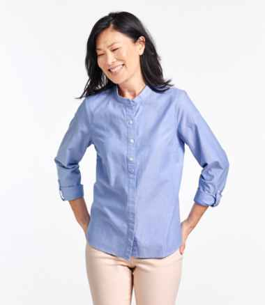 Women's Lakewashed® Organic Cotton Oxford Shirt, Roll Tab