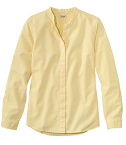 Women's Lakewashed Organic Cotton Oxford Shirt, Roll Tab
