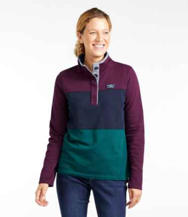 Women's Soft Cotton Rugby, Colorblock
