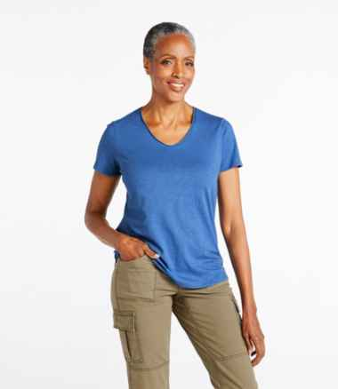 Women's Organic Cotton Tee, V-Neck Short-Sleeve