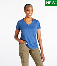 Organic Cotton Tee, V-Neck Short-Sleeve
