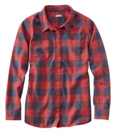 L.L.Bean Heritage Washed Twill Shirt, Long-Sleeve Plaid
