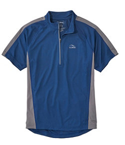Men's L.L.Bean Comfort Cycling Jersey, Short-Sleeve