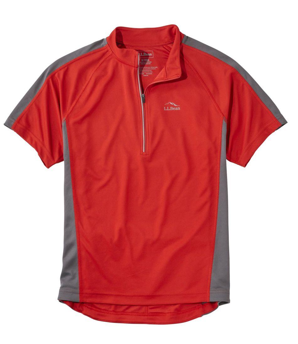 Men's L.L.Bean Comfort Cycling Jersey, Short-Sleeve