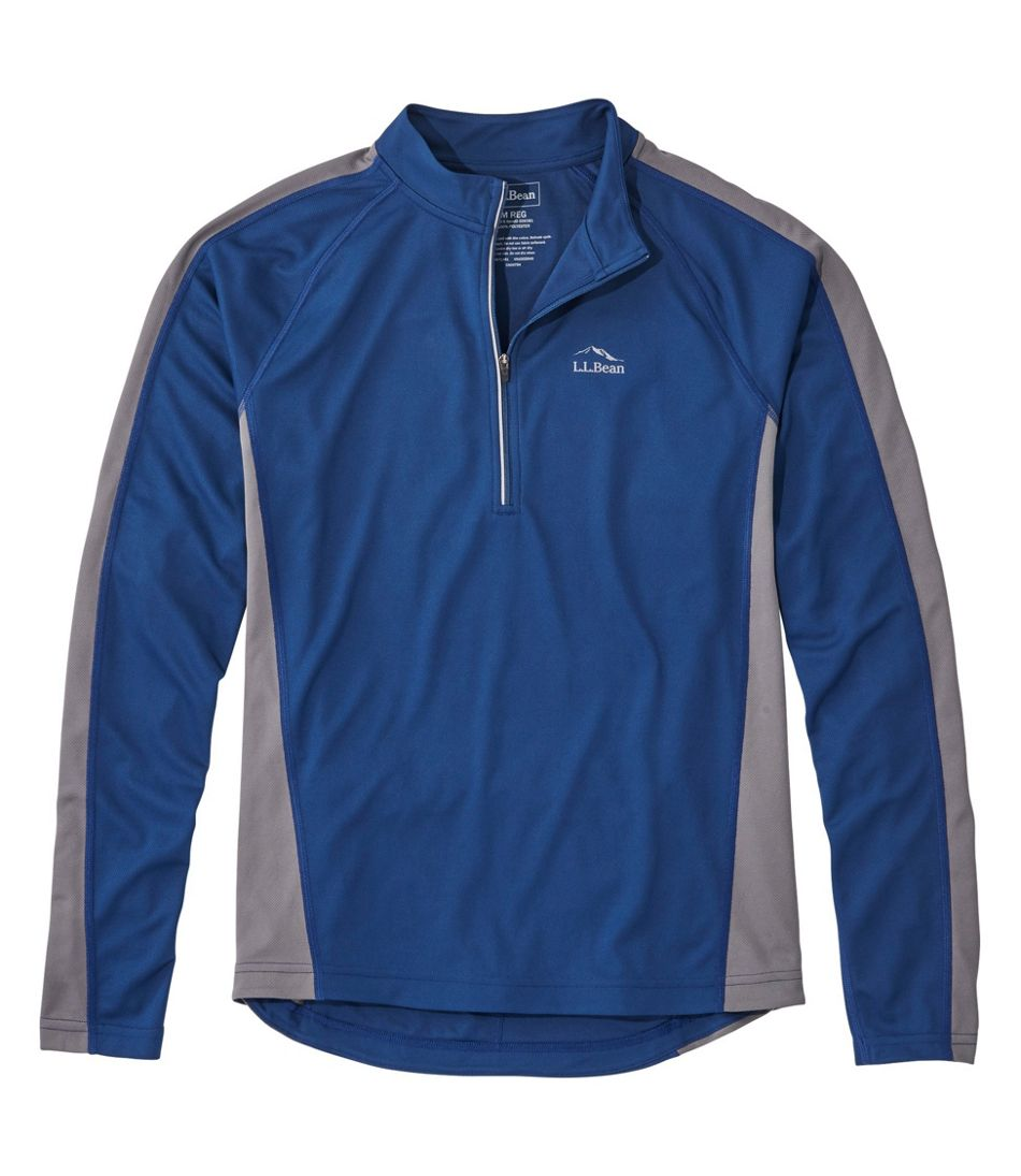 Men's L.L.Bean Comfort Cycling Jersey, Long-Sleeve