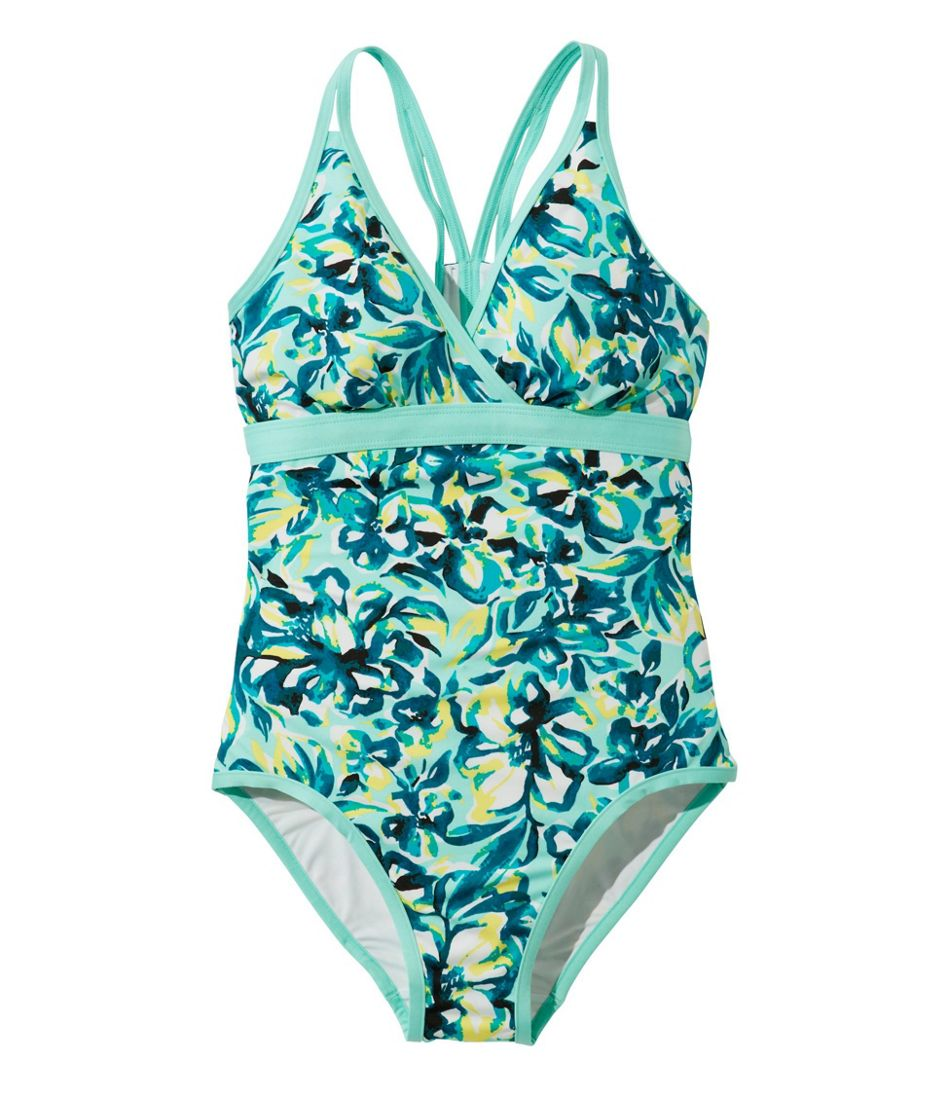 Women's ReNew Swimwear V-Neck Tanksuit, Print