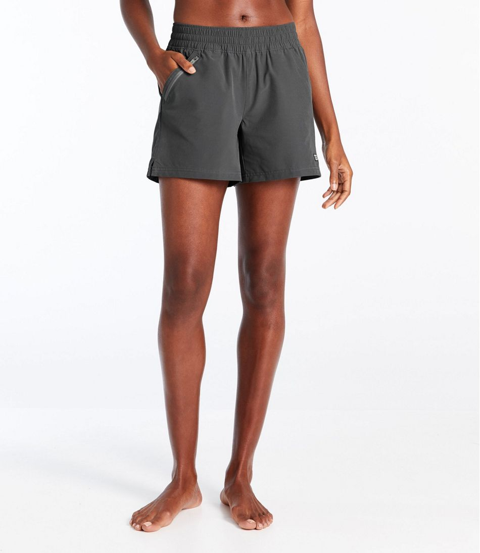 L.L.Bean Stretch Board Shorts, Pull-on 5""