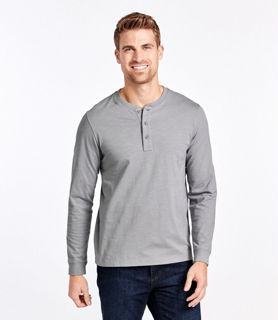 Lakewashed® Organic Cotton Shirt, Long-Sleeve Henley