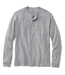 Lakewashed Organic Cotton Shirt, Long-Sleeve Henley