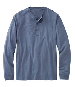 Men's Lakewashed Organic Cotton Shirt, Long-Sleeve Henley