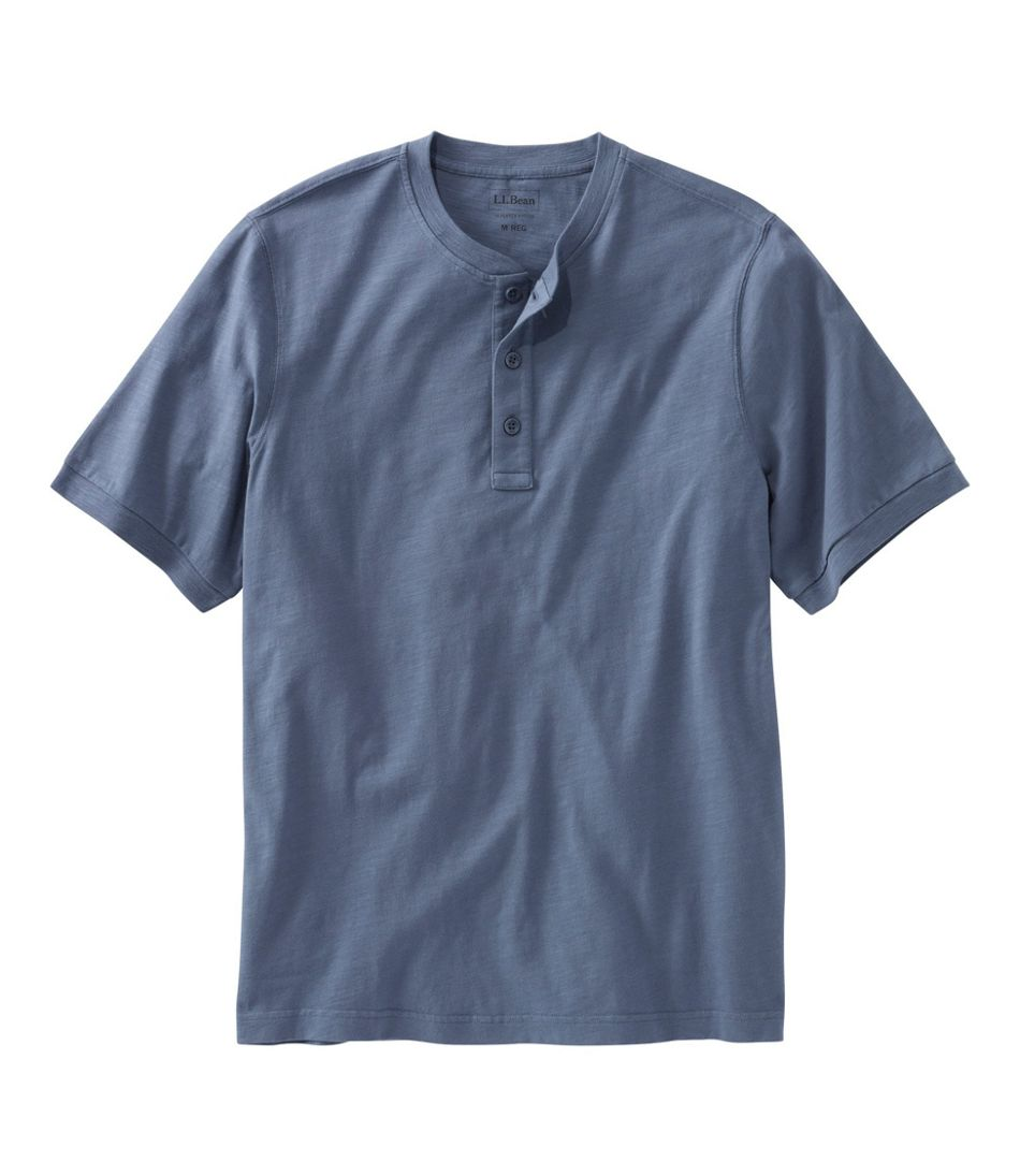 Lakewashed® Organic Cotton Shirt, Short-Sleeve Henley