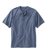 Lakewashed Organic Cotton Shirt, Short-Sleeve Henley