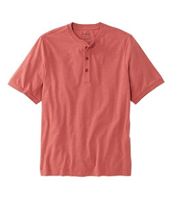 Men's Lakewashed Organic Cotton Shirt, Short-Sleeve Henley