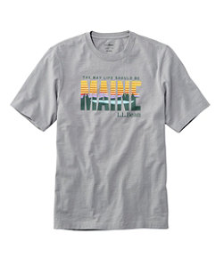 Men's Lakewashed Organic Cotton Graphic Tee, Short-Sleeve