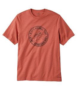 Men's Lakewashed Organic Cotton Graphic Tee, Short-Sleeve