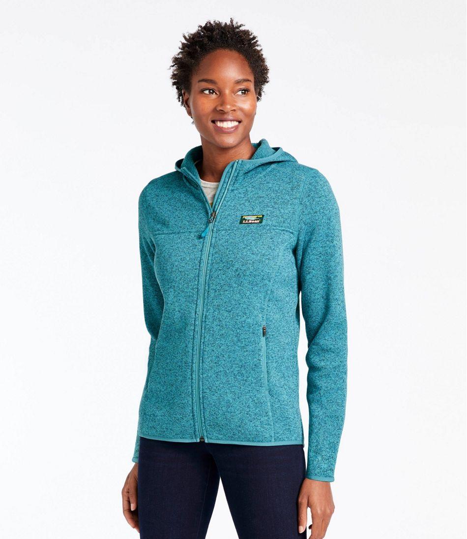 L Bean Sweater Fleece Full Zip Hoo